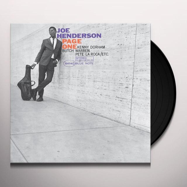 Joe Henderson PAGE ONE (BONUS CD) Vinyl Record