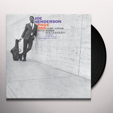 Joe Henderson PAGE ONE (BONUS CD) Vinyl Record