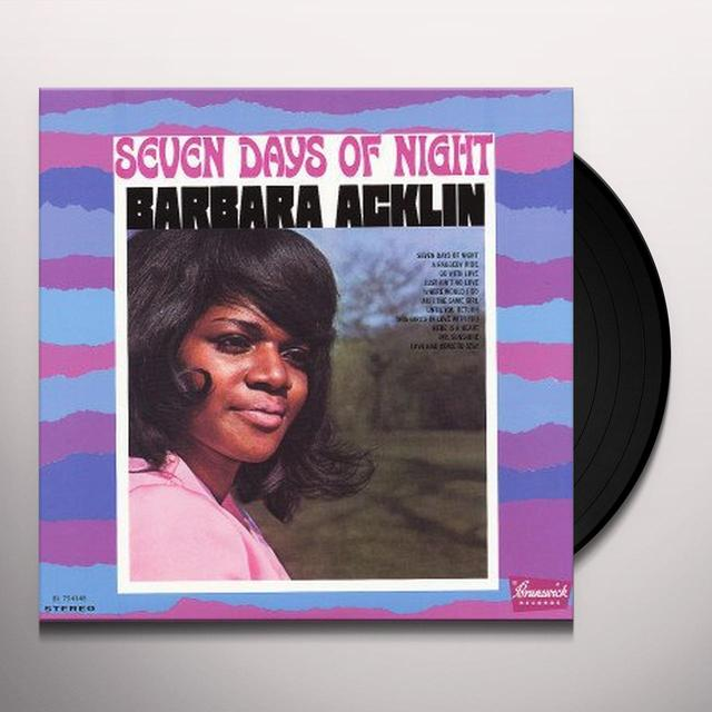 Barbara Acklin SEVEN DAYS A NIGHT Vinyl Record