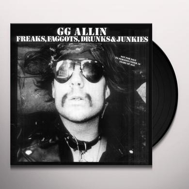 Gg Allin FREAKS FAGGOTS DRUNKS & JUNKIES Vinyl Record