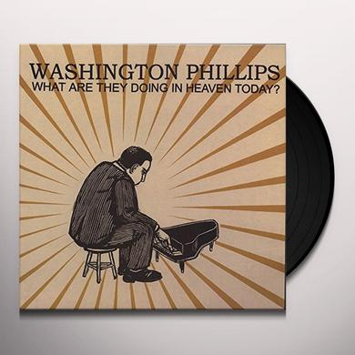 Washington Phillips WHAT ARE THEY DOING IN HEAVEN TODAY Vinyl Record