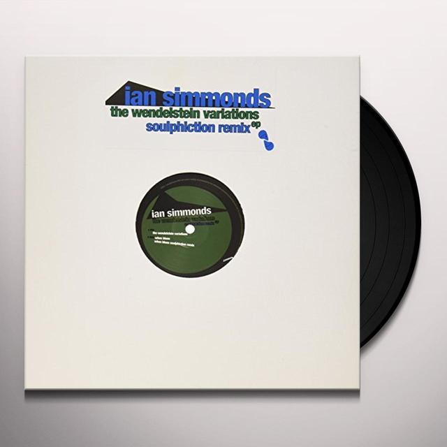 Ian Simmonds WENDELSTEIN VARIATIONS ( SOULPHICTON REMIX ) (EP) Vinyl Record