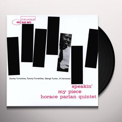 Horace Parlan SPEAKIN PEACE Vinyl Record