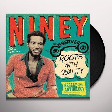 Niney The Observer ROOTS WITH QUALITY Vinyl Record