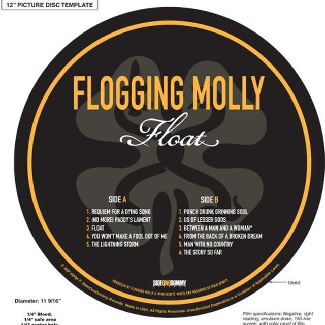 Flogging Molly FLOAT (PICTURE DISC) Vinyl Record