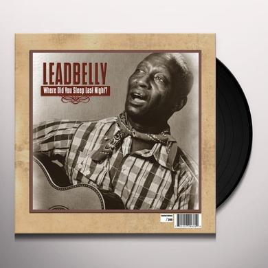 Lead Belly WHERE DID YOU SLEEP LAST NIGHT Vinyl Record - Limited Edition