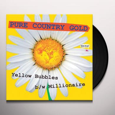 Pure Country Gold YELLOW BUBBLES Vinyl Record