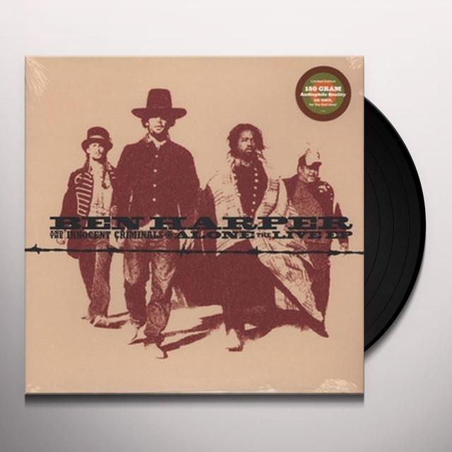 Ben Harper ALONE - LIVE EP Vinyl Record