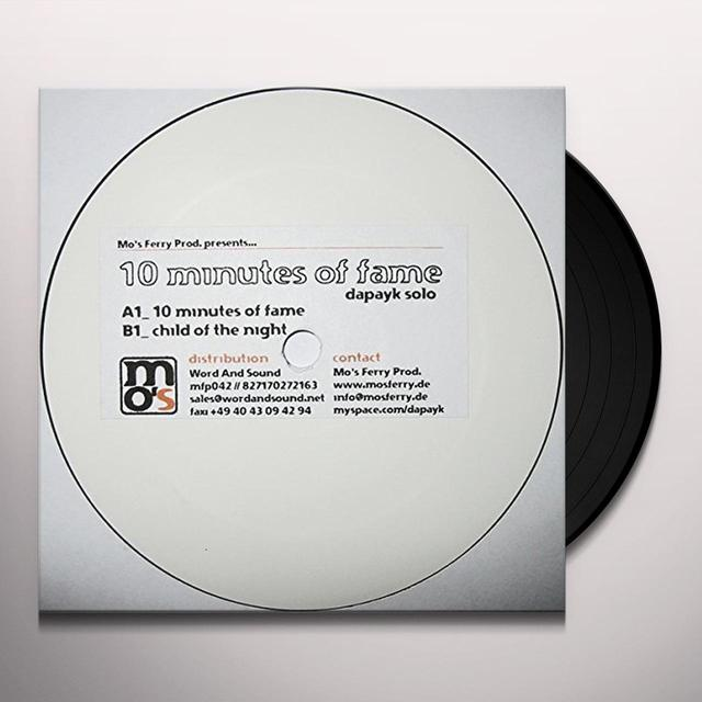 Dapayk Solo 10 MINUTES OF FAME Vinyl Record
