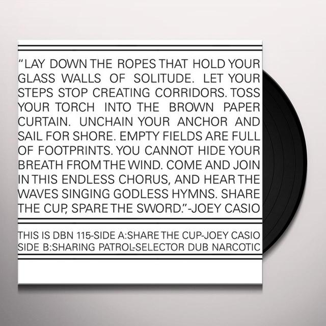 Joey / Selector Dub Narcotic Casio SHARE THE CUP / SHARING PATROL Vinyl Record