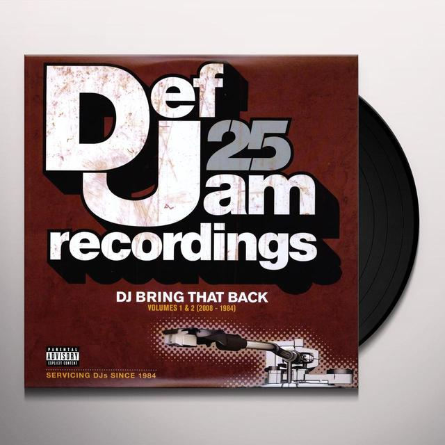 DEF JAM 25: DJ BRING THAT BACK 1 & 2 / VARIOUS Vinyl Record
