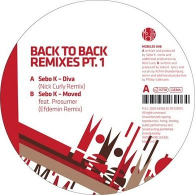 Sebo K BACK TO BACK REMIXES PT 1 Vinyl Record