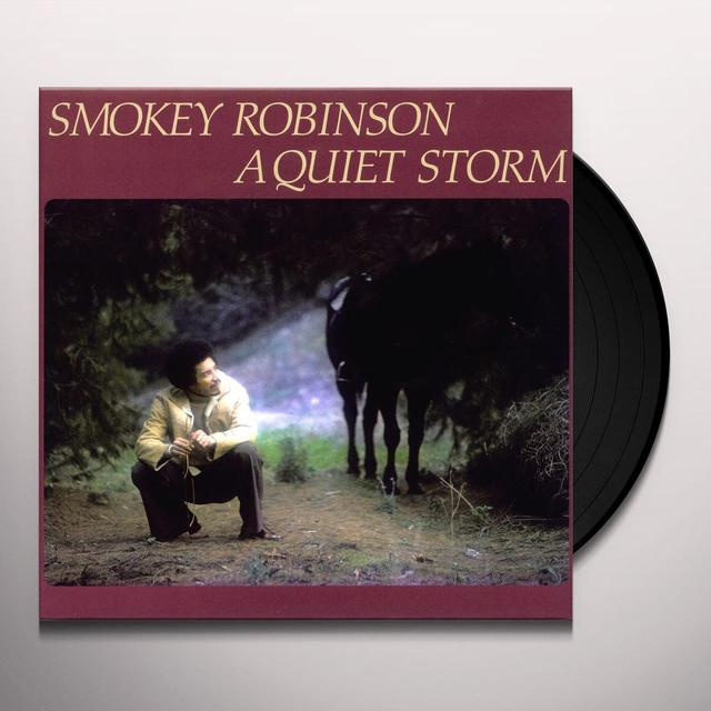 Smokey Robinson QUIET STORM Vinyl Record - 180 Gram Pressing, Reissue