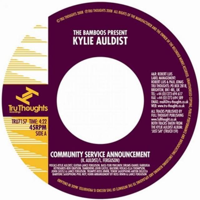 Kylie Auldist COMMUNITY SERVICE ANNOUNCEMENT Vinyl Record
