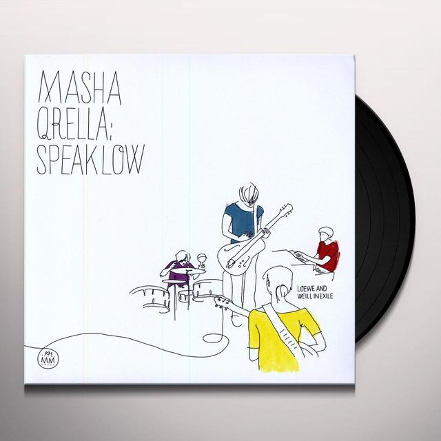 Masha Qrella SPEAK LOW: LOEWE & WEILL IN EXILE Vinyl Record