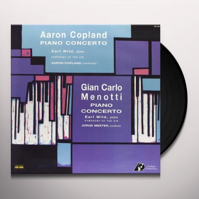 Copland / Menotti PIANO CONCERTO Vinyl Record
