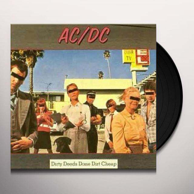 AC/DC DIRTY DEEDS DONE DIRT CHEAP Vinyl Record