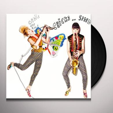 Chicks On Speed CUTTING THE EDGE Vinyl Record