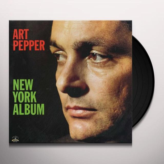 Art Pepper NEW YORK ALBUM Vinyl Record - 180 Gram Pressing