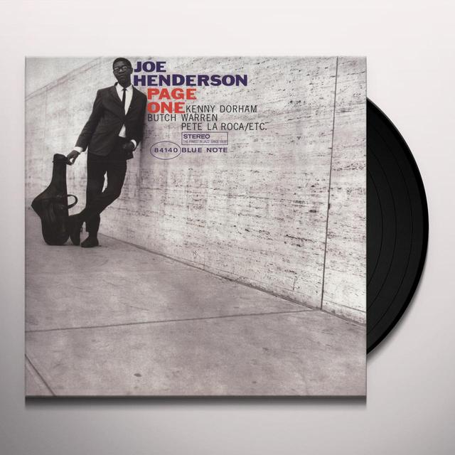 Joe Henderson PAGE ONE Vinyl Record - 180 Gram Pressing