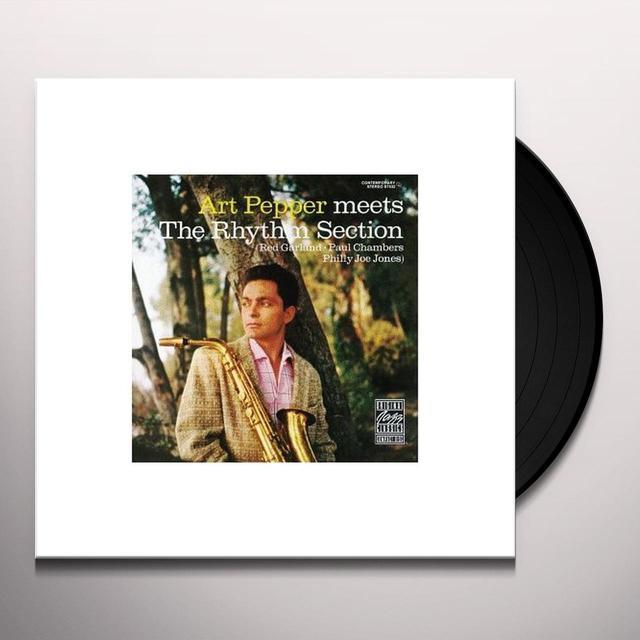 Art Pepper MEETS THE RHYTHM SECTION Vinyl Record