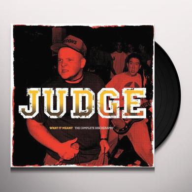 Judge WHAT IT MEANT: COMPLETE DISCOGRAPHY Vinyl Record