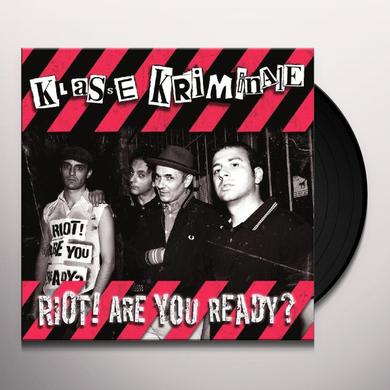 Klasse Kriminale RIOT ARE YOU READY Vinyl Record