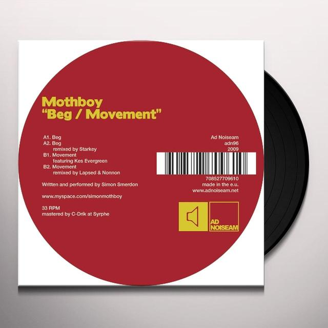 Mothboy BEG / MOVEMENT (EP) Vinyl Record