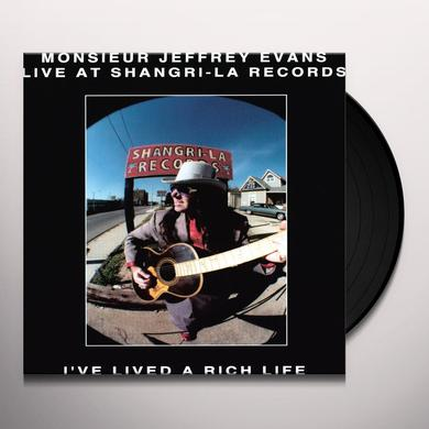 Monsieur Jeffrey Evans I'VE LIVED A RICH LIFE Vinyl Record