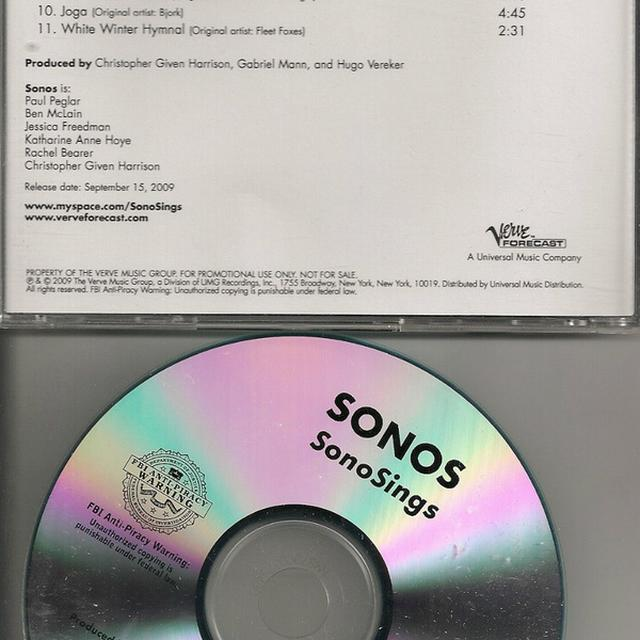 SONOSINGS Vinyl Record