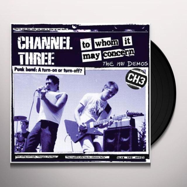 Channel 3 TO WHOM IT MAY CONCERN Vinyl Record