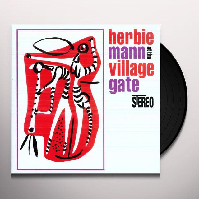 Herbie Mann AT THE VILLAGE GATE Vinyl Record