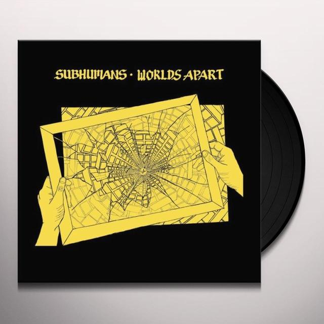 Subhumans WORLDS APART Vinyl Record - Reissue