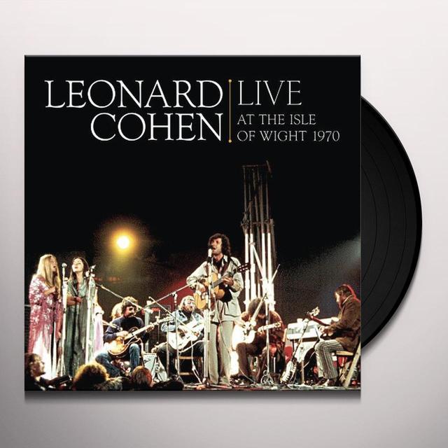 Leonard Cohen LIVE AT THE ISLE OF WIGHT 1970 Vinyl Record - 180 Gram Pressing