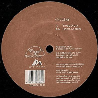 October THREE DROPS & HOMO SAPIENS Vinyl Record