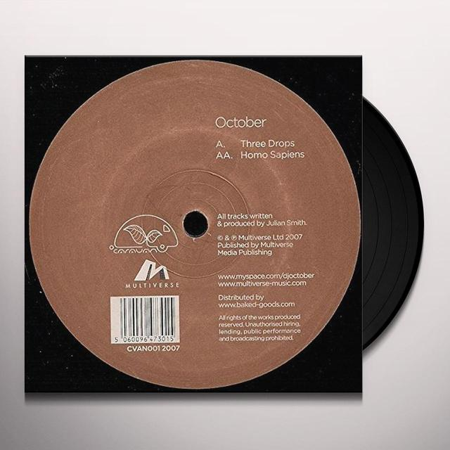 October THREE DROPS & HOMO SAPIENS Vinyl Record