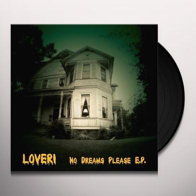 Lover NO DREAMS PLEASE Vinyl Record