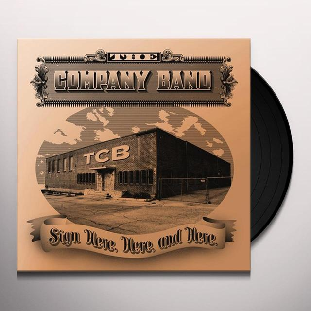Company Band SIGN HERE HERE & HERE Vinyl Record