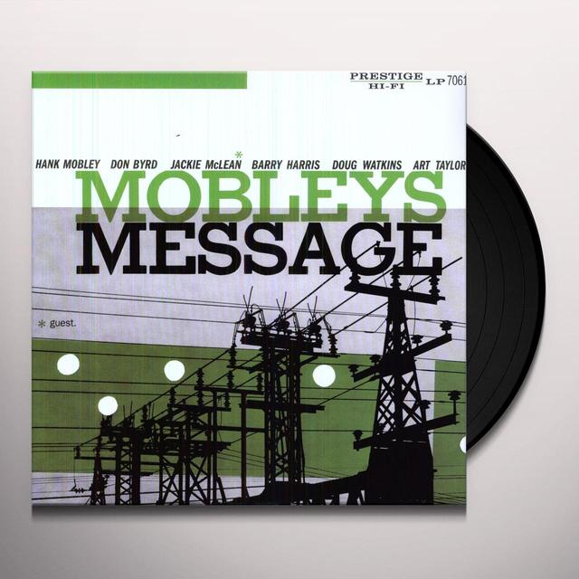 Hank Mobley MOBLEY'S MESSAGE Vinyl Record