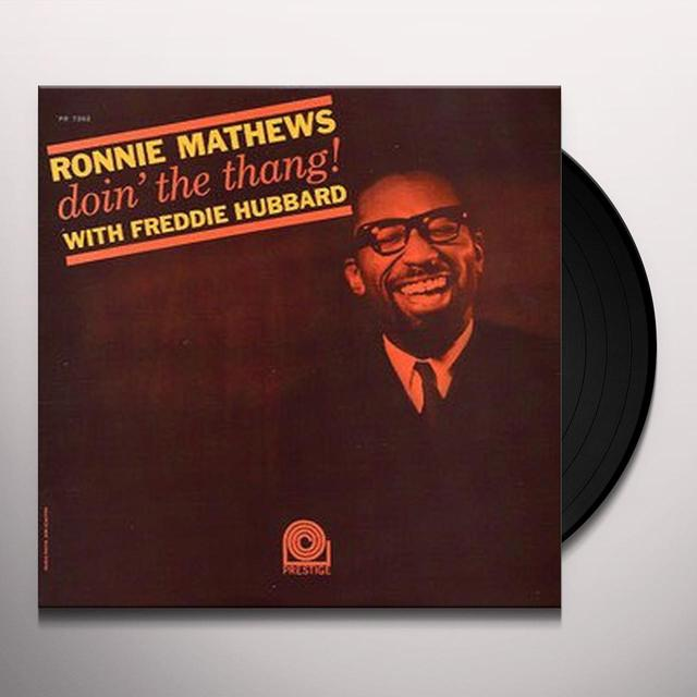 Ronnie Matthews DOIN THE THANG WITH FREDDIE HUBBARD Vinyl Record