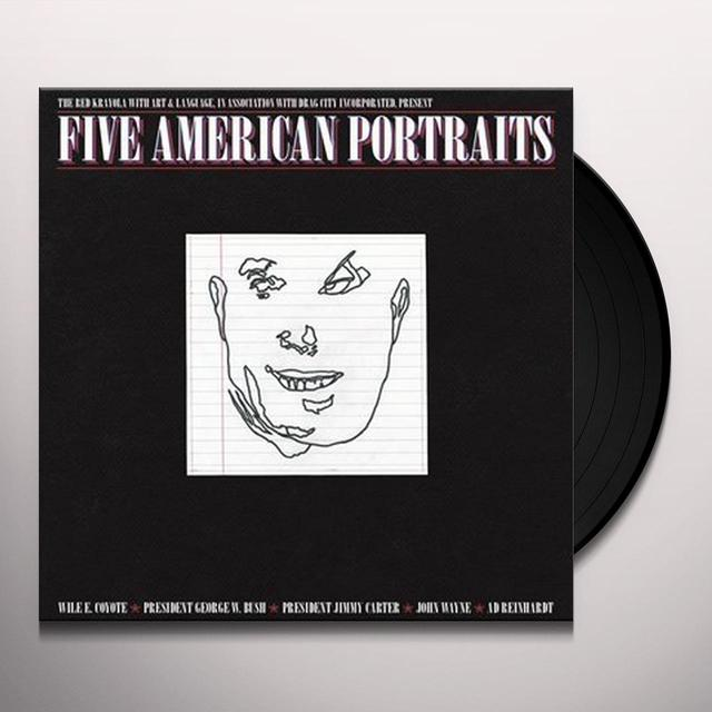 The Red Krayola FIVE AMERICAN PORTRAITS Vinyl Record