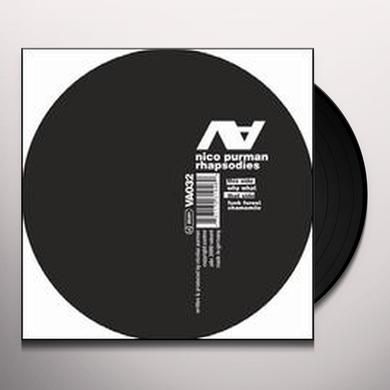 Nico Purman RHAPSODIES (EP) Vinyl Record
