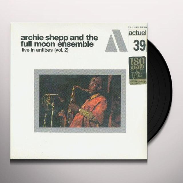Archie Shepp LIVE IN ANTIBES 2 Vinyl Record