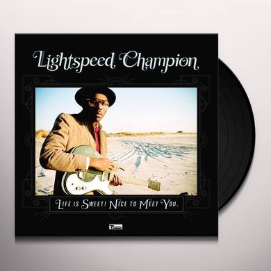 Lightspeed Champion LIFE IS SWEET NICE TO MEET YOU Vinyl Record