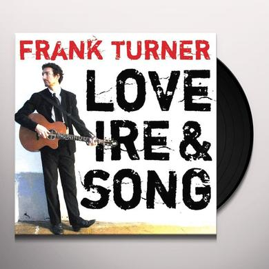 Frank Turner LOVE IRE & SONG Vinyl Record