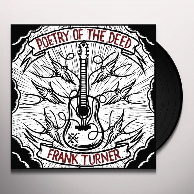 Frank Turner POETRY OF THE DEED Vinyl Record - Digital Download Included