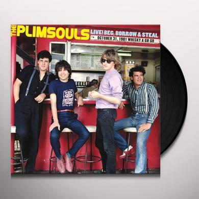 Plimsouls LIVE BEG BORROW & STEAL: OCTOBER 31 1981 WHISKEY Vinyl Record