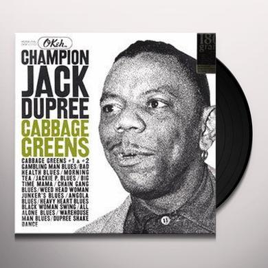 Champion Jack Dupree CABBAGE GREENS Vinyl Record