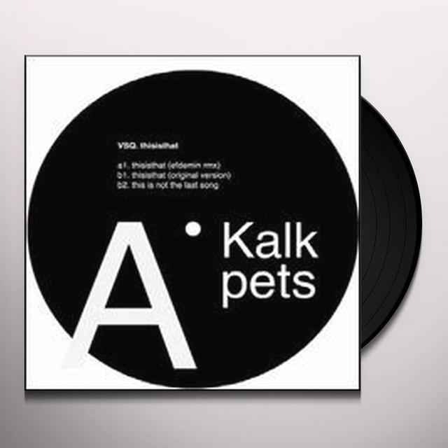 Vsq THISISTHAT Vinyl Record