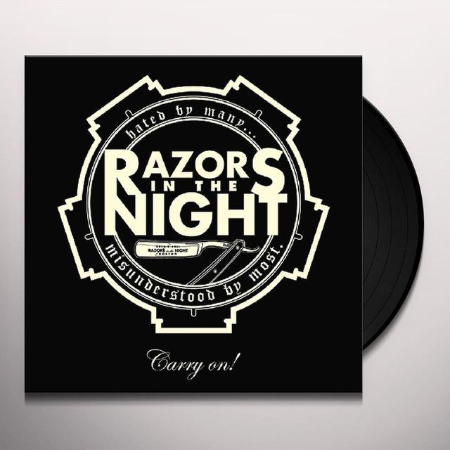 Razors In The Night CARRY ON Vinyl Record